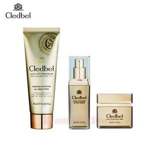 CLEDBEL Face Lift Program Gold Collage Lifting Set 3items,CLEDBEL