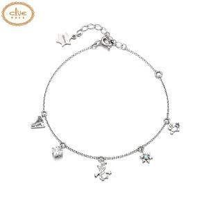 CLUE Frozen Olaf Snowgie Silver Bracelet (CLBR19B0CMWL) 1ea [CLUE X Disney]