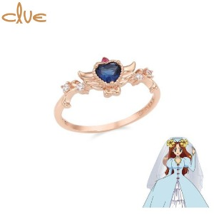 CLUE Angel of Love Wedding Lily Silver Ring (CLRR20W002PL) 1ea [CLUE X Wedding Peach 2nd collaboration]