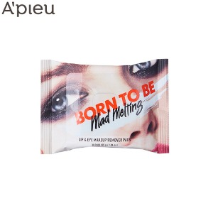 A'PIEU Born To Be Mad Melting Lip & Eye Makeup Remover Pads 30ea 55g