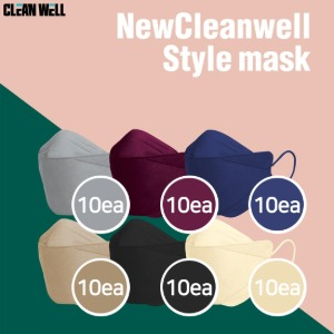 CLEANWELL New Cleanwell Style KF94 Color Mask Mix 60ea