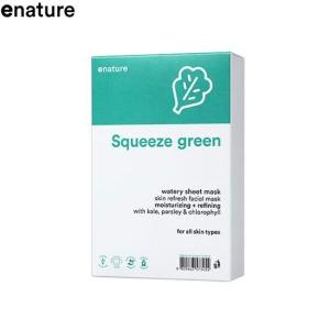 ENATURE Squeeze Green Watery Sheet Mask 22g*10sheets