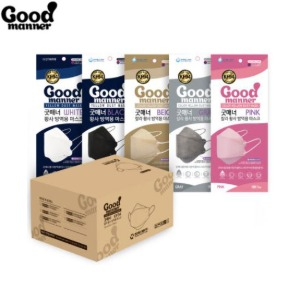 GOOD MANNER Color Yellow Dust Mask KF94 #Large 100ea