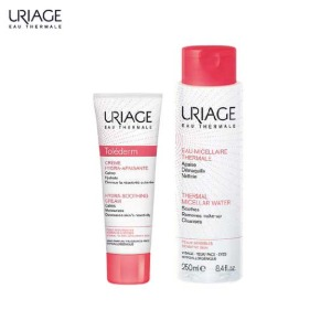 URIAGE Tolederm Hydra-Soothing Cream & Cleansing Water Set 2items