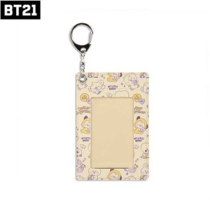 BT21 Leather Patch Card Holder Little Buddy 1ea