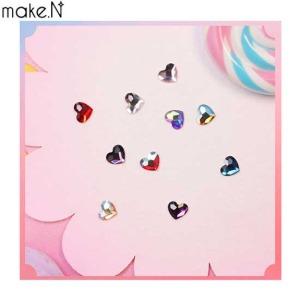 MAKE.N Swarovski Heart Flat Back Stone (2808) 3ea,Beauty Box Korea,Other Brand,Other