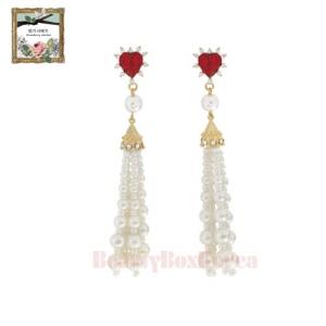 STRAWBERRY SHERBET Renaissance Earrings 1pair,STRAWBERRY SHERBET