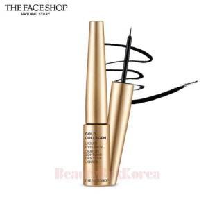 THE FACE SHOP Gold Collagen Liquid Eyeliner No.01 Black 6g,THE FACE SHOP
