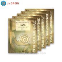 THE SAEM Snail Pure Natural Mask Sheet 20ml*5ea ,THE SAEM