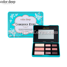 COLOR DEEP 9 Color Gorgeous Eyes Eyeshdow Palette 10.2g,COLOR DEEP