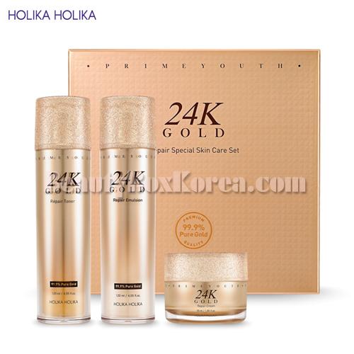 HOLIKA HOLIKA Prime Youth 24K Gold Repair Special Skin Set 3items,HOLIKAHOLIKA
