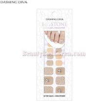 DASHING DIVA Premium Gloss Gel Pedi Strip 1ea [Big Stone]