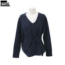 STYLENANDA Tie-Waist Detail V-Neck Sweater 1ea,Beauty Box Korea