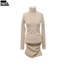 STYLENANDA Ruched Mini Knit Dress 1ea,Beauty Box Korea