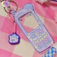 NEON MOON Sleepy World Teddy's Phone Key Holder 1ea [Sleepy Teddy Pink Edition],Beauty Box Korea,Other Brand,Others