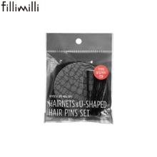 FILLIMILLI Hairnets & U-Shaped Hair Pins Set 12items