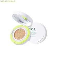 NATURE REPUBLIC Green Derma Mild Cica Serum Cover Cushion SPF50+ PA+++ 14g