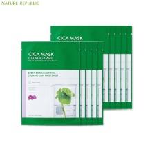 NATURE REPUBLIC Green Derma Mild Cica Calming Care Mask Sheet 25ml*10ea