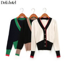 DALI HOTEL Color Block Slimfit Cardigan 1ea,Beauty Box Korea,Other Brand,Others
