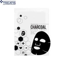 TREATIS Charcoal Black Sheet Mask 27g,Beauty Box Korea