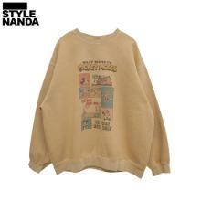 STYLENANDA [Disney] Faded Cartoon Print Sweatshirt 1ea,Beauty Box Korea,STYLE NANDA,Style Nanda