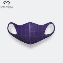 LEMASKA Celebrity Fashion Mask (Plaid) 1ea