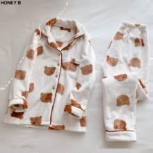 HONEY B Teddy Bear Pajama Set 1ea