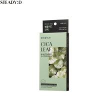 STEADY:D Cica Leaf Blackhead 2-Step Solution 6ea