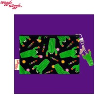 WIGGLE WIGGLE Cotton Pattern Funky Pouch - Cactus (MP-023) 1ea