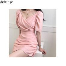 DEFRINGE Shirring Puff Wrap Mini Dress 1ea,Beauty Box Korea,Other Brand,Other