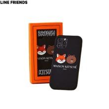 MAISON KITSUNE X LINE FRIENDS Collection Black iPhone Case 1ea