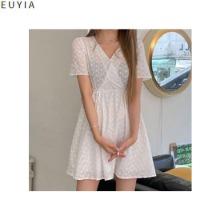 EUYIA Rosy Punching Back Banding Mini Dress 1ea