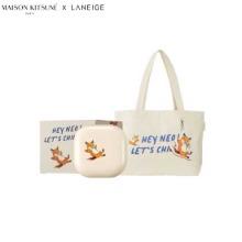 LANEIGE Neo Cushion with Maison Kitsune Eco Bag Set 3items [Maison Kitsune Collaboration]