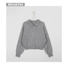 BINARY01 Collar Zip Crop Knit 1ea,Beauty Box Korea,Other Brand,Other