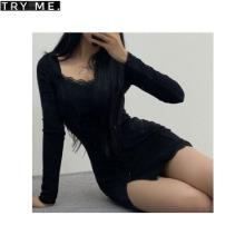 TRY ME Long Sleeve Plain Mini Dress 1ea,Beauty Box Korea,Other Brand,Other