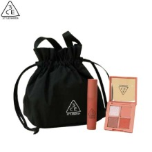 3CE Blurring Lip & Mini Palette with Handle Bag Set 3items