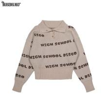 HIGH SCHOOL DISCO Button Disco Crop Knit Beige 1ea,Beauty Box Korea,Other Brand,Other
