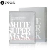 BAD SKIN Tone Brightning White Super Mask 25ml*5ea,BADSKIN