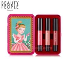 BEATY PEOPLE Honey Girl Dollish Lip Special Make-Up Set 2.4g*3ea,Beauty People