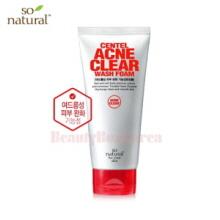 SO NATURAL Centel Acne Clear Wash Foam 120ml,SO NATURAL