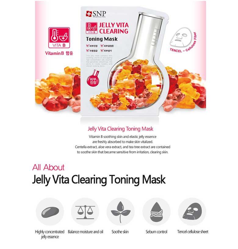SNP Jelly Vita Brightening Toning Mask | tradekorea