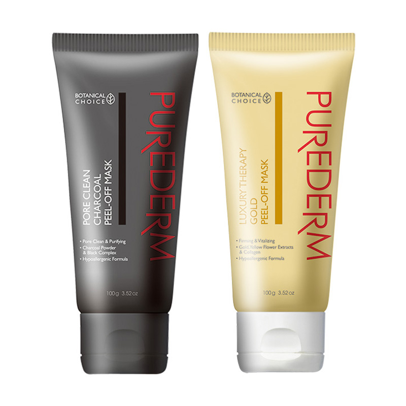 Own label brand, [PUREDERM] Peel-Off Mask (Tube) 100g 2 Type (Weight : 126g)