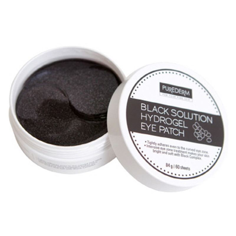 [PUREDERM] Black Solution Hydrogel Eye Patch 84g 60 sheets (Weight : 179g)