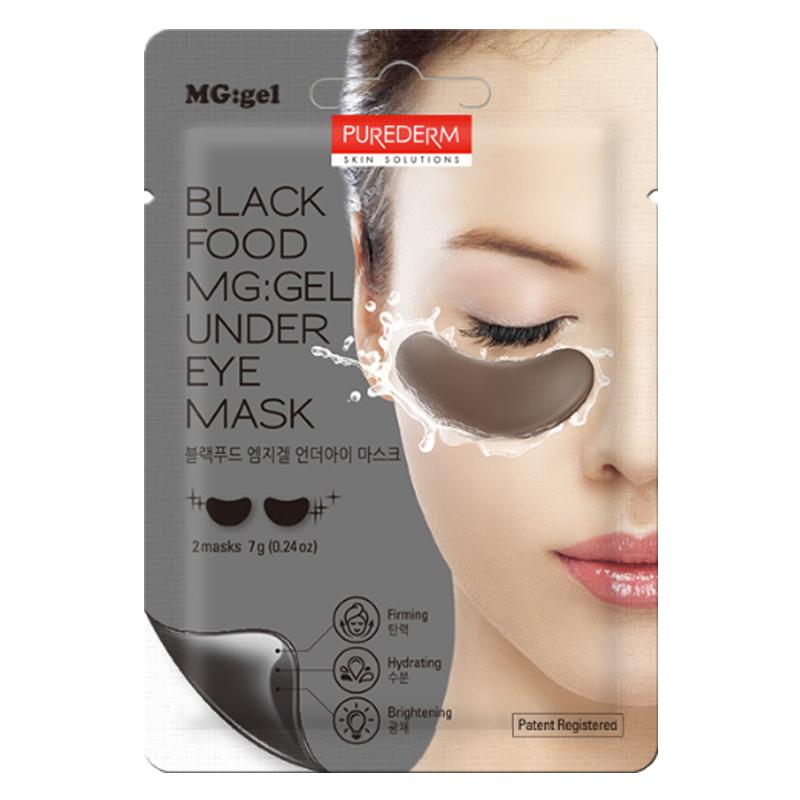 Own label brand, [PUREDERM] Black Food MG:gel Under Eye Mask 7g   (Weight : 12g)