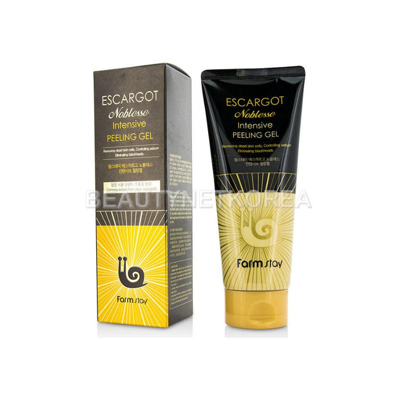Own label brand, [FARM STAY] Escargot Noblesse lntensive Peeling Gel 180ml (Weight : 239g)