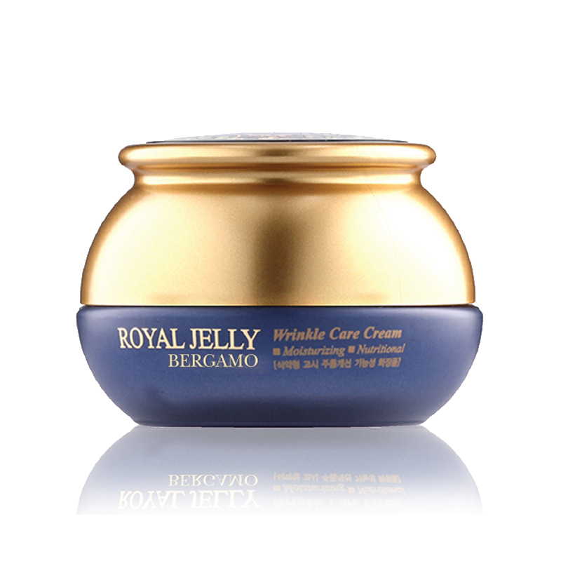 Own label brand, [BERGAMO] Royal Jelly Wrinkle Care Cream 50g (Weight : 234g)
