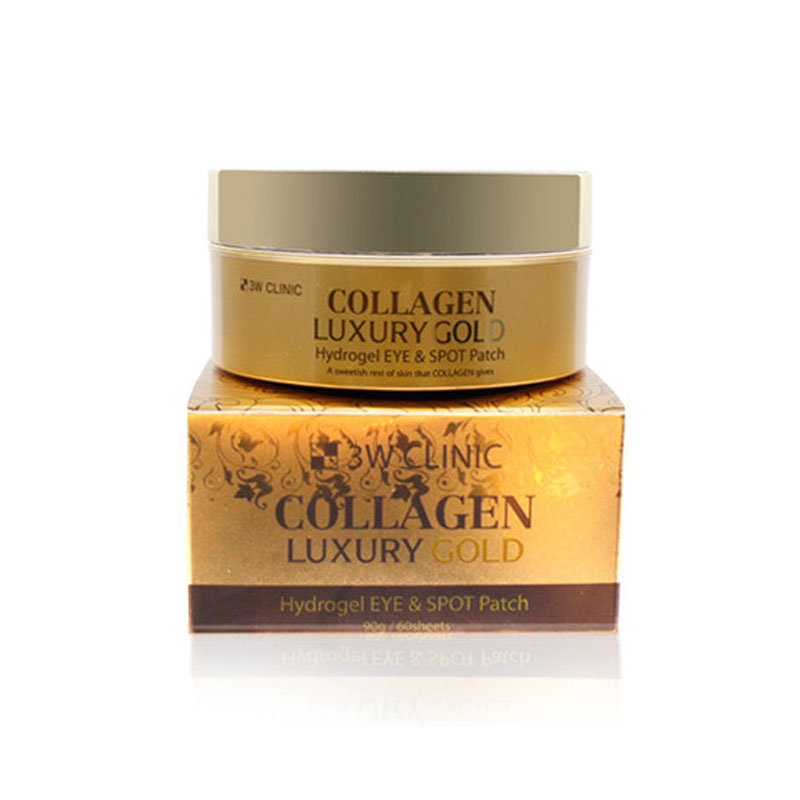 Own label brand, [3W CLINIC] Collagen Luxury Gold Hydrogel Eye & Spot Patch 90g / 60sheets (Weight : 164g)