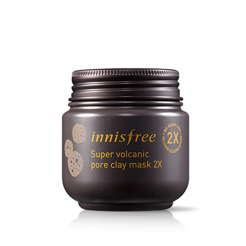 Own label brand, [INNISFREE] Super Volcanic Pore Clay Mask 2X 100ml  (Weight : 162g)