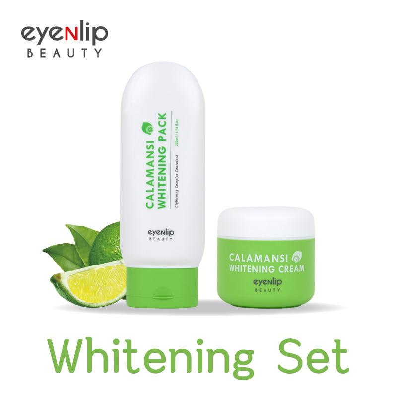 Own label brand, [EYENLIP] Calamansi Whitening Pack 200ml + Calamansi Whitening Cream 50ml Set (Weight : 365g)