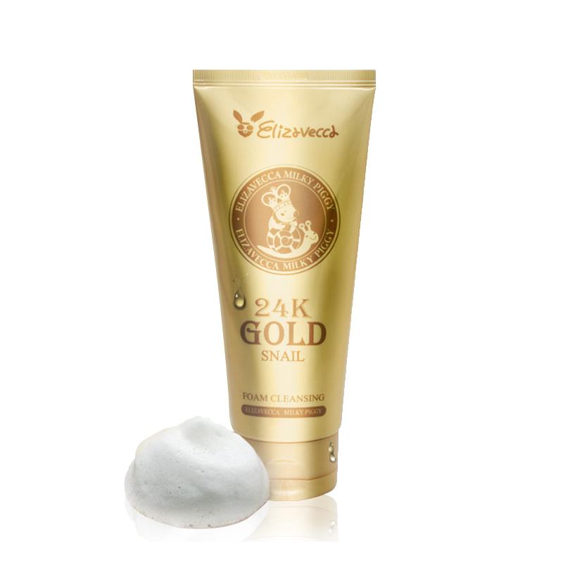 Own label brand, [ELIZAVECCA] Milky Piggy 24K Gold Snail Foam Cleansing 180ml  (Weight : 242g)